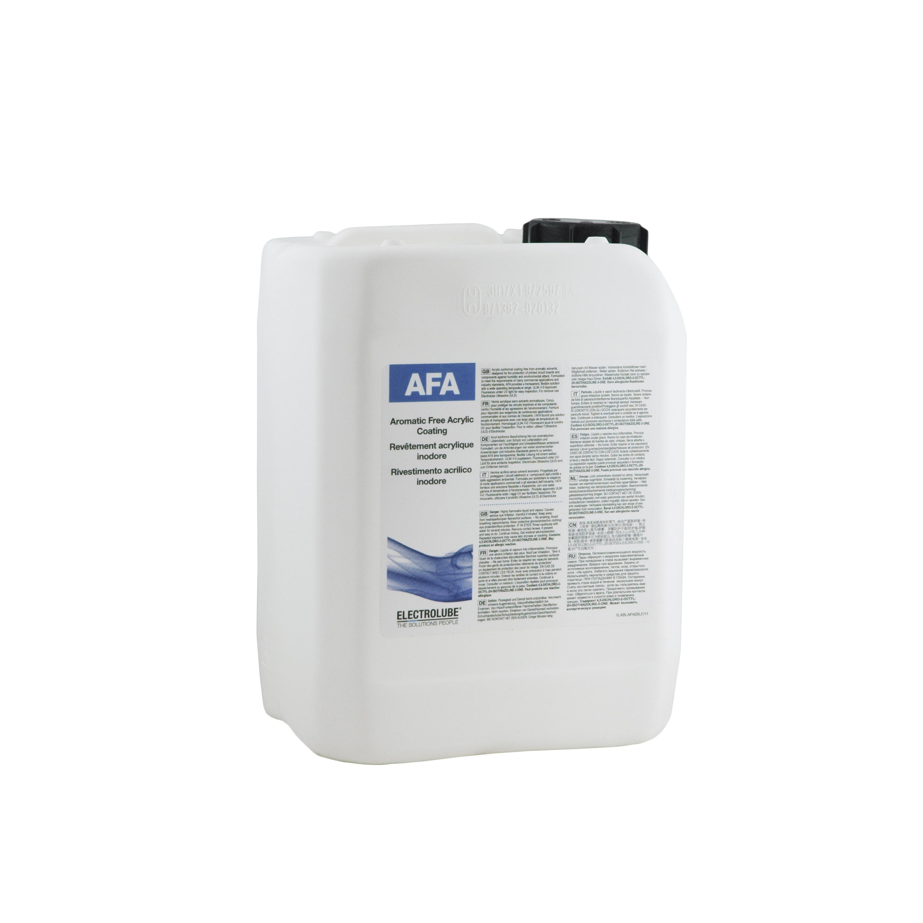 Electrolube Afa05l Aromatic Free Acrylic Coating 5l