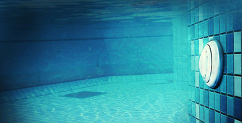 Swimming pool with small LED light